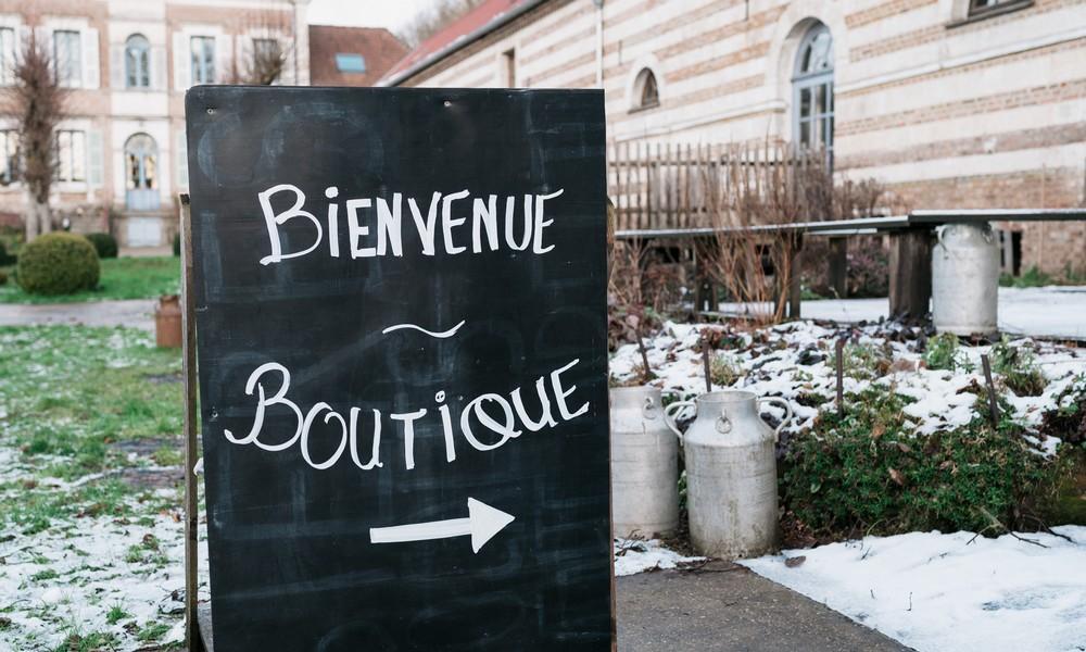 Panneau boutique brasserie